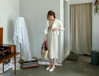 Hoshi linen skirt