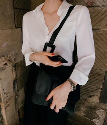 Shining shirt blouse