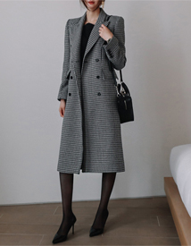 Custom check coat