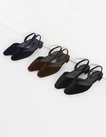 Of-velvet sling back ♩