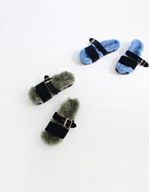 Velvet fur sandal ♩