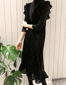 Nemo velvet set dress