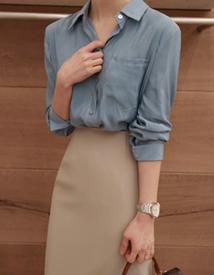 Shimmering silky blouse