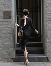 Pad square dress