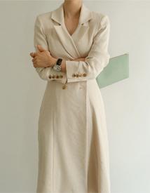 Newfeminine double coat