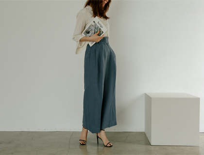 Lark belt linen pants