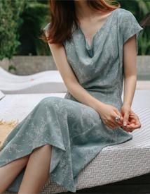 Flame drape dress