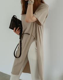 Front slit dress