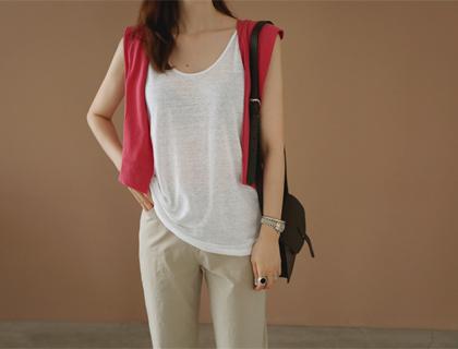 Marina linen sleeveless
