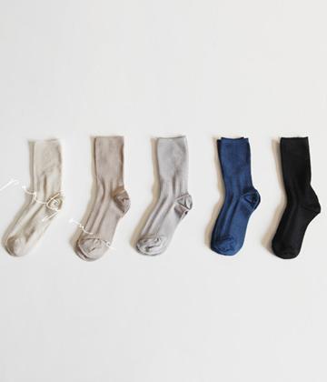Shiny pearl socks