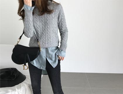 Cashmere twist knit