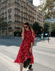Flora unbal dress