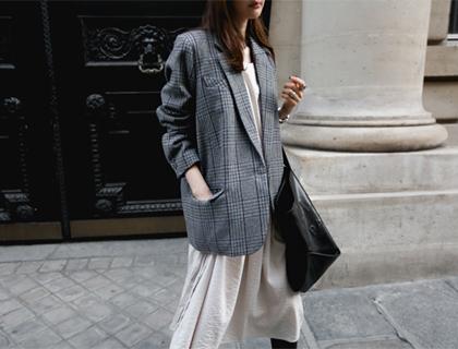 Company check jacket