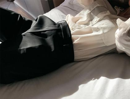 Pocket silk blouse