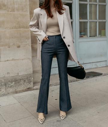 Sophie boots-cut pants