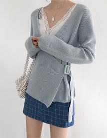 Checky mini skirt