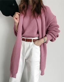 Shawl set knit