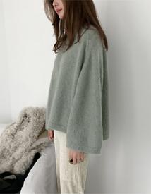 Brush mohair knit