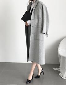 Stitch pocket coat
