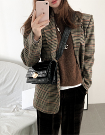 Maella check jacket