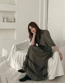Gloss frill dress