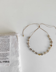 Shell silver necklace