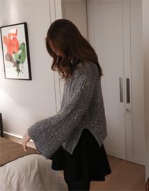 Mix turtleneck knit