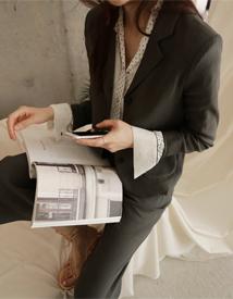 Magazine linen jacket