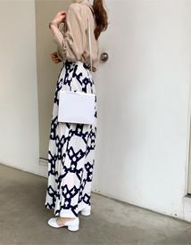 Long pleats skirt