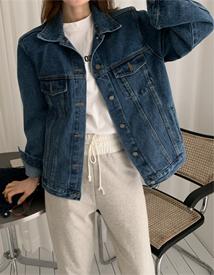 Shoulder denim jacket