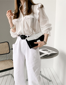 Isabella frill blouse