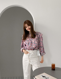 Fresh flower blouse