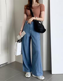 French wide pants