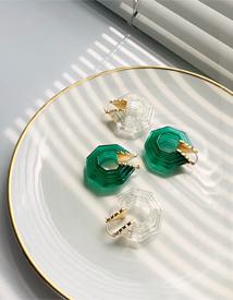 Nut epoxy earring