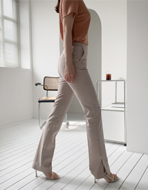 High slit pants