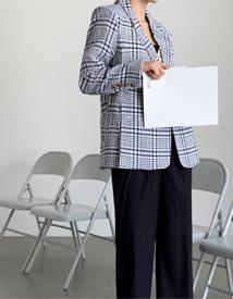 Mari check jacket