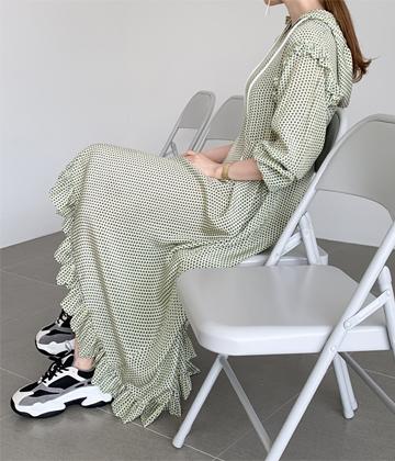 Hood long dress
