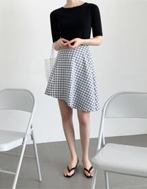 Marcell check skirt