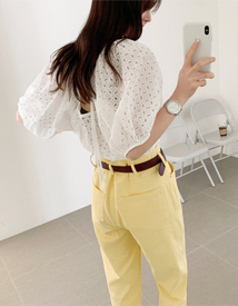 Puff punching blouse