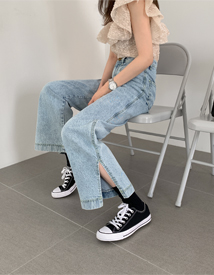 Under slit denim