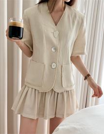 Linen fringe jacket