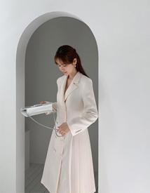 Pleats dress coat