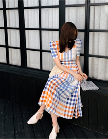 Lisa check dress