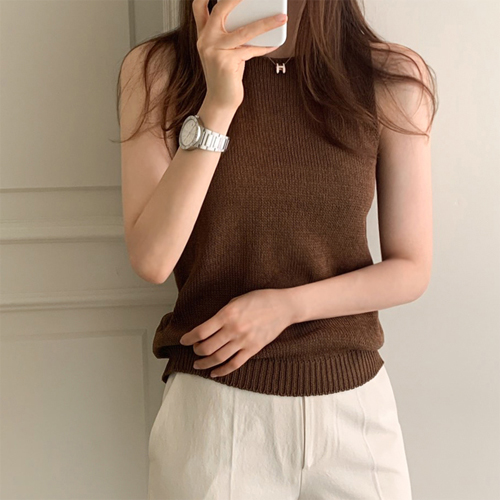 Flax knit sleeveless