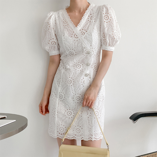 Larn cubic lace dress