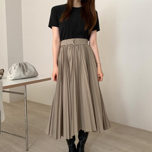 Rush pleats skirt