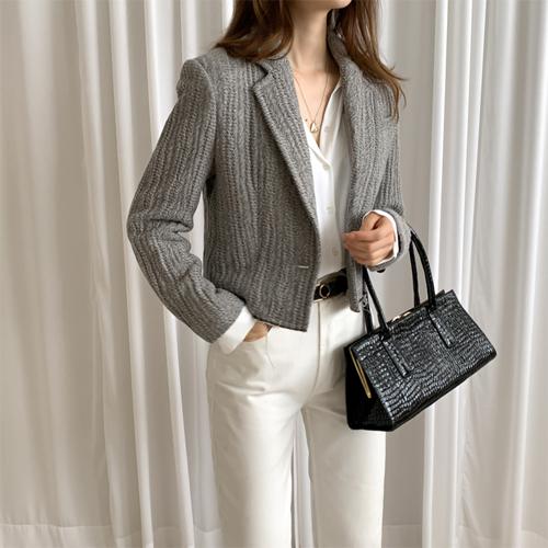 Herringbone short jacket
