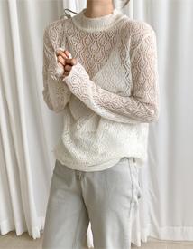 Wave alpaca knit
