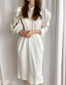 Muzie shirring dress