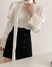 Abel button skirt